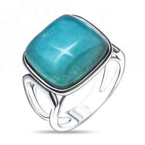 925 Sterling Silver women's rings with aquamarine