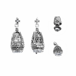 925 Sterling Silver amulets with cubic zirconia