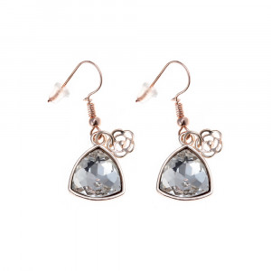 Bijuterii Alloy pair earrings with crystal
