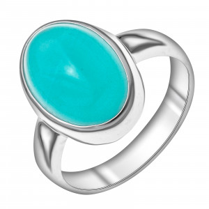 925 Sterling Silver women's rings with synthetic aquamarine