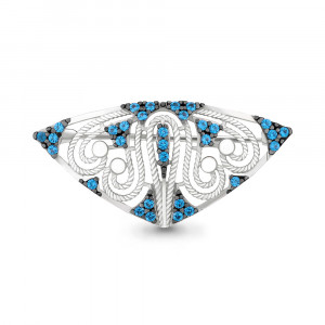 925 Sterling Silver brooches with spinel