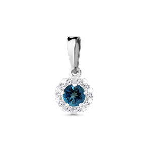 925 Sterling Silver pendants with london topaz