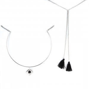 Bijuterii Alloy necklaces with resin