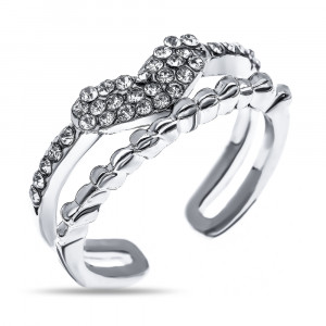 Bijuterii Alloy women's ring with cubic zirconia