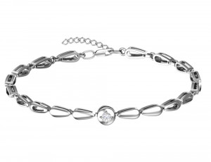 925 Sterling Silver bracelets with cubic zirconia