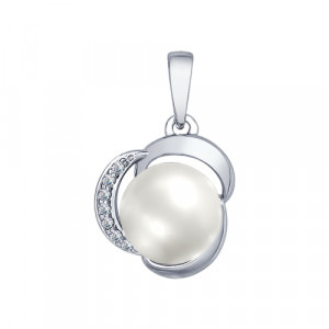 925 Sterling Silver pendants with pearl and pearl imit.