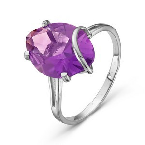 925 Sterling Silver women's ring with amethyst