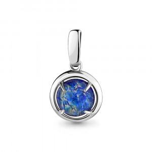 925 Sterling Silver pendants with glass