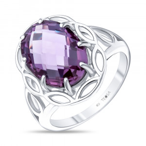 925 Sterling Silver women's rings with synthetic alexandrite
