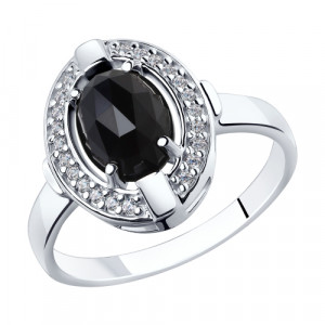 925 Sterling Silver women's rings with agate and cubic zirconia