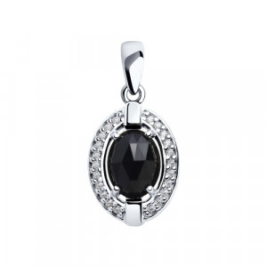 925 Sterling Silver pendants with agate and cubic zirconia