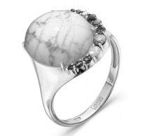925 Sterling Silver women's rings with jewelry glass and imit. coral