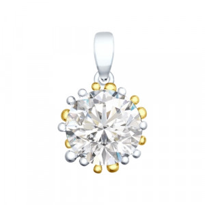 925 Sterling Silver pendants with rhinestone