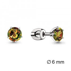 925 Sterling Silver pair earrings with sultanic