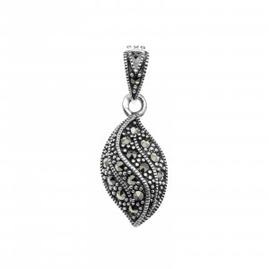 925 Sterling Silver pendants with marcasite