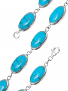 925 Sterling Silver bracelets with turquoise and mother of pearl