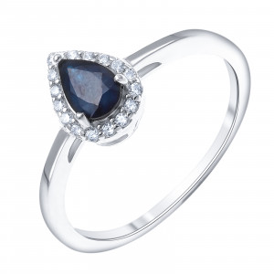 925 Sterling Silver women's rings with corundum and sapphire