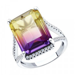 925 Sterling Silver women's rings with sitall and