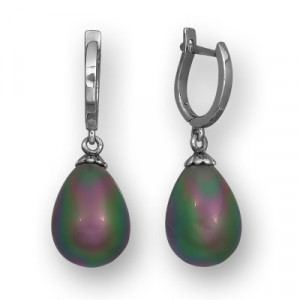 925 Sterling Silver pair earrings with mallorca and zoisite