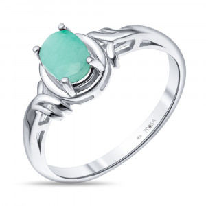 925 Sterling Silver women's rings with emerald