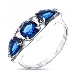 925 Sterling Silver women's rings with spinel