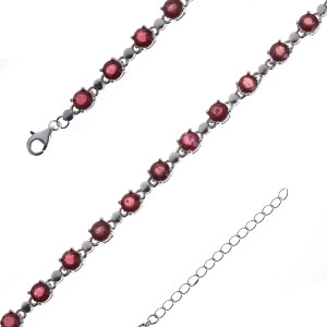 925 Sterling Silver bracelets with rubin