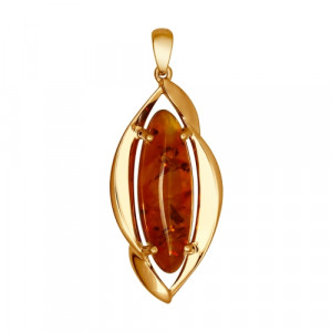 925 Sterling Silver pendants with amber