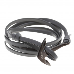 Steel bracelets with leather