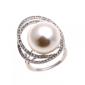 Bijuterii Alloy women's ring with pearl cult.