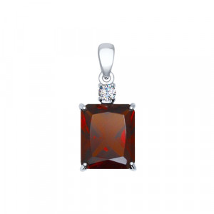 925 Sterling Silver pendants with sitall and synthetic garnet