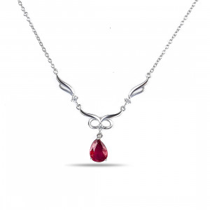 925 Sterling Silver necklaces with cubic zirconia and
