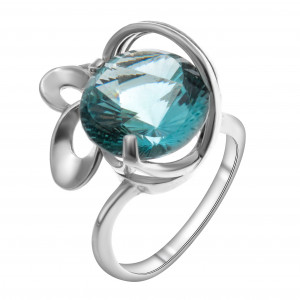 925 Sterling Silver women's ring with topaz and london topaz