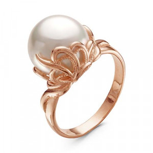 925 Sterling Silver women's rings with pearl imit. and pearl