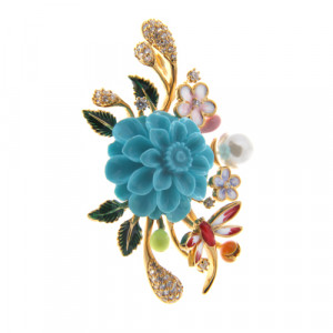 925 Sterling Silver pendants with turquoise imitation and enamel
