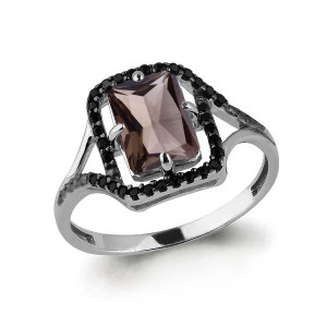 925 Sterling Silver women's rings with synthetic spinel and nano crystal
