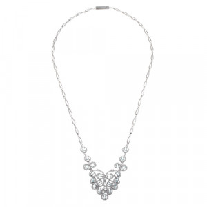 925 Sterling Silver necklaces with cubic zirconia and topaz