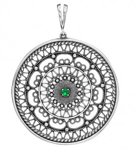 925 Sterling Silver pendants with cubic zirconia and spinel