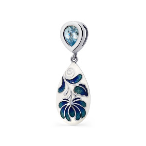925 Sterling Silver pendants with enamel and cubic zirconia