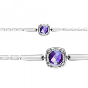 925 Sterling Silver bracelets with cubic zirconia and aleksit