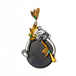 925 Sterling Silver pendants with agate