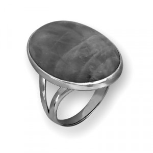 925 Sterling Silver women's rings with zoisite and obsidian