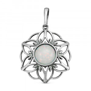 925 Sterling Silver pendants with white opal