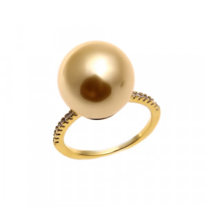 Bijuterii Alloy women's ring with pink cult.pearl