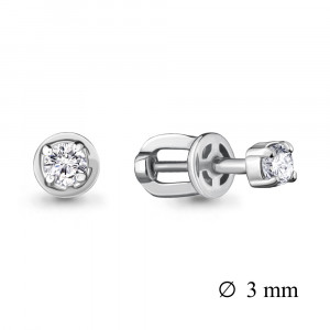 925 Sterling Silver pair earrings with cubic zirconia swarovski