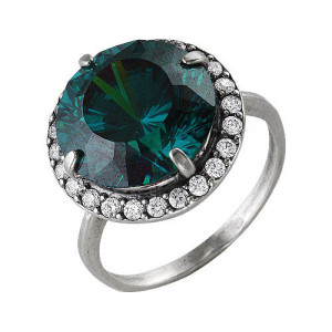 925 Sterling Silver women's rings with multicolor cubic zirconia and cubic zirconia