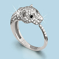 925 Sterling Silver women's rings with nano crystal