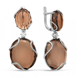 925 Sterling Silver pair earrings with crystal and crystal jewelry