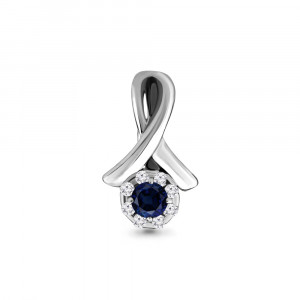 925 Sterling Silver pendants with cubic zirconia and nano sapphire