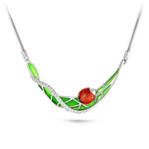 925 Sterling Silver necklaces with cubic zirconia swarovski
