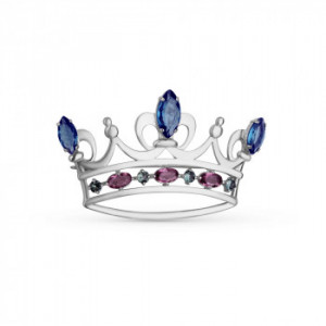 925 Sterling Silver brooches with crystal jewelry